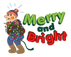 Merry and Bright embroidery design
