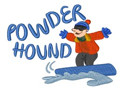 Powder Hound embroidery design