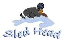 Sled Head embroidery design