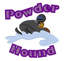 Powder Hound embroidery design
