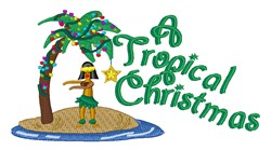 Tropical Christmas embroidery design