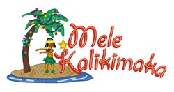 Mele Kalikimaka embroidery design
