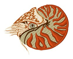 Nautilus embroidery design