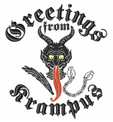 Krampus Greetings embroidery design