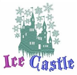 Ice Castle embroidery design