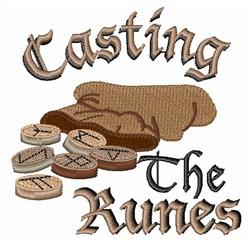Casting Runes embroidery design