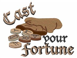 Cast Your Fortune embroidery design