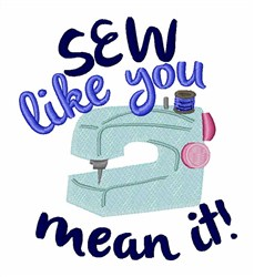 Sew Mean It embroidery design