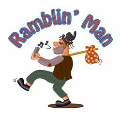 Ramblin Man embroidery design