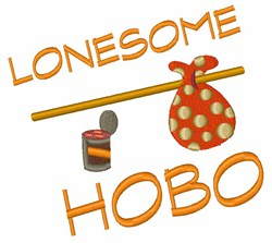 Lonesome Hobo embroidery design