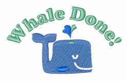 Whale Done embroidery design