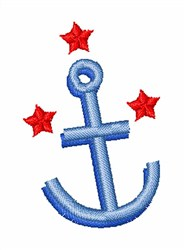 Anchor Star embroidery design