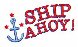 Ship Ahoy embroidery design