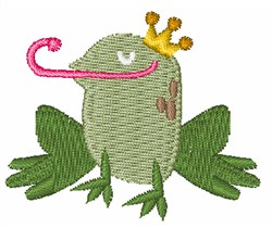 Prince Frog embroidery design