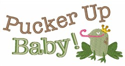 Pucker Up embroidery design