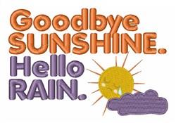 Goodbye Sunshine embroidery design