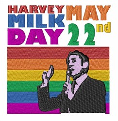 Harvey Milk Day embroidery design