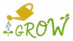 Grow Plants embroidery design
