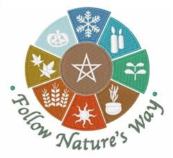 Follow Natures Way embroidery design