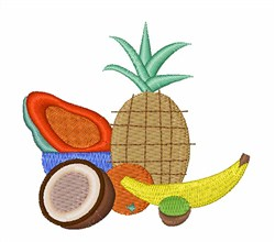 Tropical Fruit embroidery design