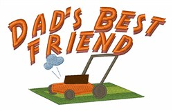 Dads Best Friend embroidery design