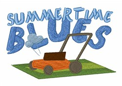 Summertime Blues embroidery design