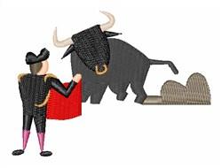 Bull Fight embroidery design