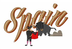 Spain Bull Fight embroidery design