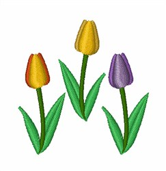 Tulips embroidery design