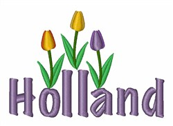 Holland Tulips embroidery design