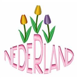 Nederland embroidery design