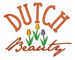 Dutch Beauty embroidery design