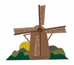 Dutch Windmill embroidery design
