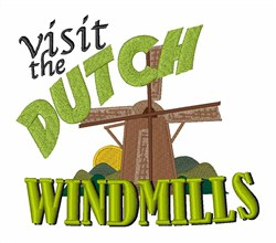 Visit Windmills embroidery design