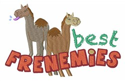Best Frenemies embroidery design
