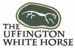 Uffington White Horse embroidery design