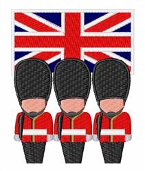 British Guards embroidery design