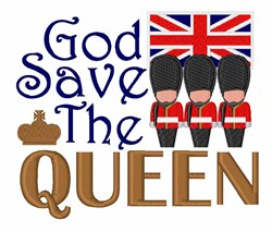 God Save Queen embroidery design