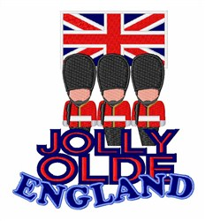 Jolly Olde England embroidery design