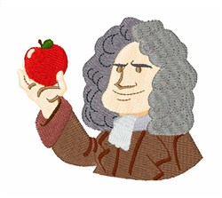Isaac Newton embroidery design