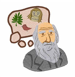 Charles Darwin embroidery design