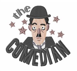 The Comedian embroidery design