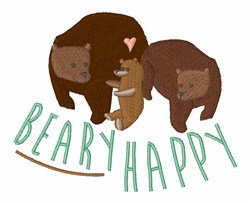Beary Happy embroidery design