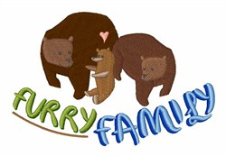 Furry Family embroidery design