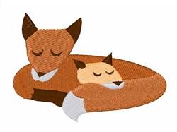 Fox Family embroidery design
