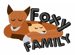 Foxy Family embroidery design
