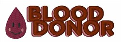 Blood Donor embroidery design