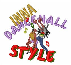 Dancehall Style embroidery design