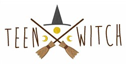 Teen Witch embroidery design
