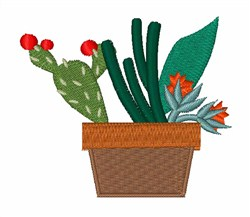 Cactus Plants embroidery design